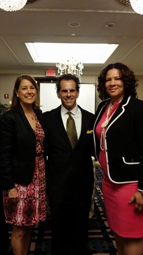 Scott Schmaren with Amy Tashjian  and Angela Williams